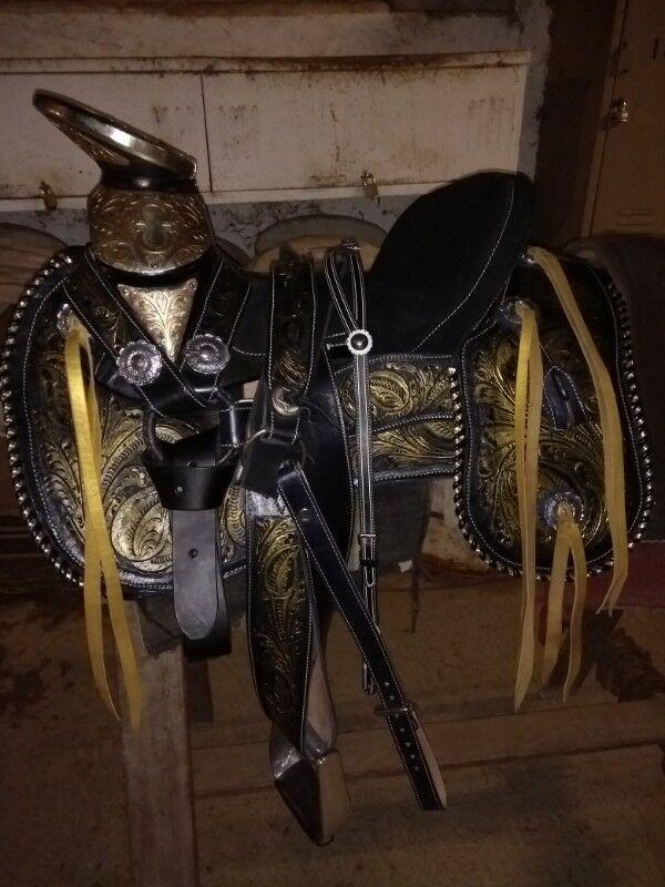 silla de montar charra de lujo