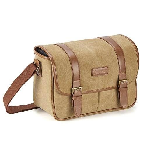 Classic Camera Bag, Evecase Large Canvas Messenger Slr/dslr