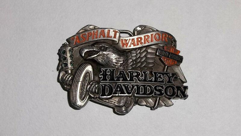 Hebilla Harley Davidson Asphalt Warrior modelo H