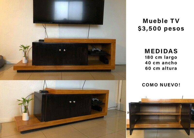 MUEBLE PARA TV- como nuevo, diseño único