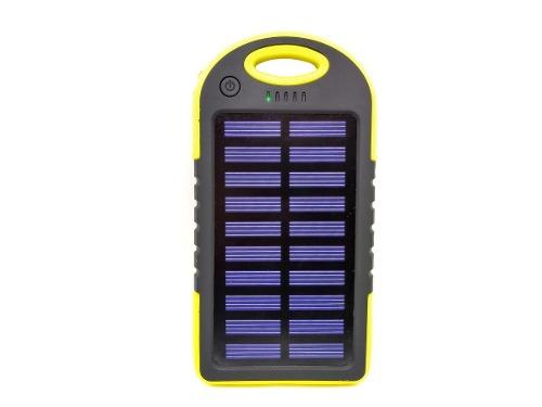 Power Bank Batería Pila Externa Solar  Mah Luz Led Uv
