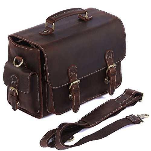 S-zone Vintage Genuine Leather Dslr Slr Camera & Shoulder Ba