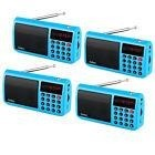 4*blue Portable Fm/mw/sw Radio Speaker Mp3 Player & Flashlig