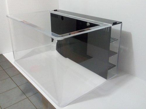 Acuario Pecera Acrilico Con Filtro Posterior (sump) 96 Lts