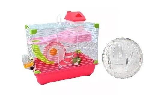 Jaula Hamster Land Sunny 35.5 X 24 X 33 Cm + Esfera 18 Cm