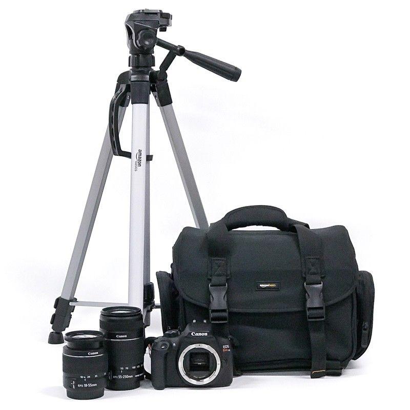 Kit Cámara Canon EOS Rebel T6, 2 Lentes (EF-S  y EF-S
