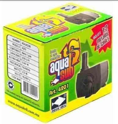 Oferta Enero Bomba De Agua Mini Sumergible 230 Lts 50 Cm