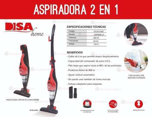 Aspiradora Barredora 2 En 1 Plegable Disa 600w