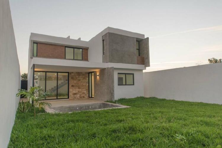 Casa en Privada Residencial en Conkal, Entrega inmediata /