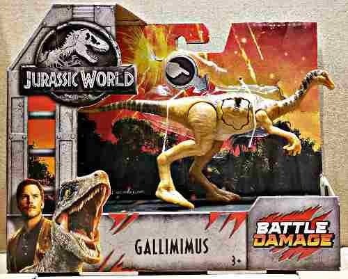 Gallimimus Battle Damage Jurassic World Mattel