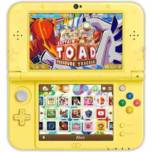 New 3ds Xl Amarilla + Pokemon Sol Y Luna + 32 Juegos Envío