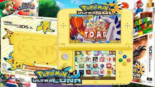 New 3ds Xl + Pokemon Ultra Sol Y Luna + Juegos + 32gb