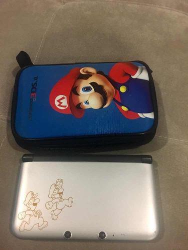 Nintendo 3ds Xl Con Tres Juegos Y Estuche, Edición Mario