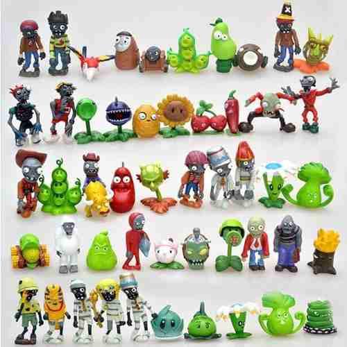 Plantas Vs Zombies 2, Pvc, 8 Figuras De Accion,