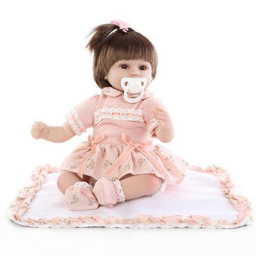 15 En Reborn Baby Rebirth Doll Kids Gift Material De La Tela