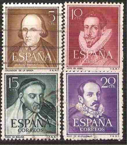 1950 España Literatos Escritor Poeta Dramaturgo 4 S. Usados