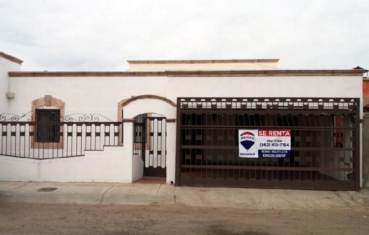 Casa en renta en Residencial Rancho Bonito en Hermosillo,