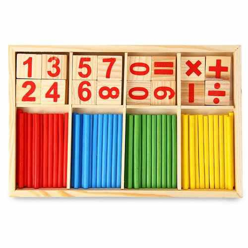 De Madera Montessori Matemáticas Material De La Herramienta