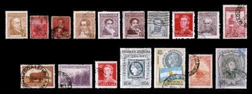 Estampillas: Argentina 1935 A 1958