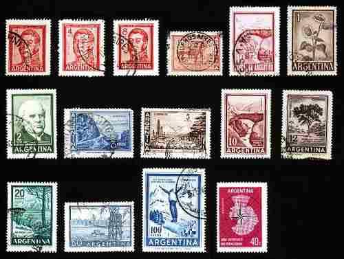 Estampillas: Argentina 1958 A 1966