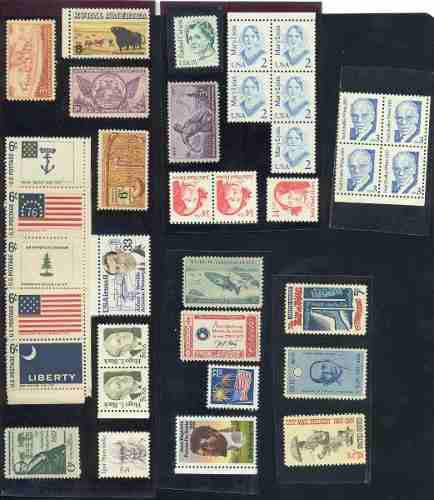 Eu8-lote De 35 Sellos Nuevos De Estados Unidos-