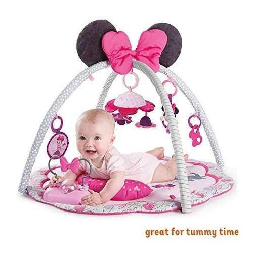 Gimnasio Para Bebe De Minnie Mouse Sonido Disney Rosa