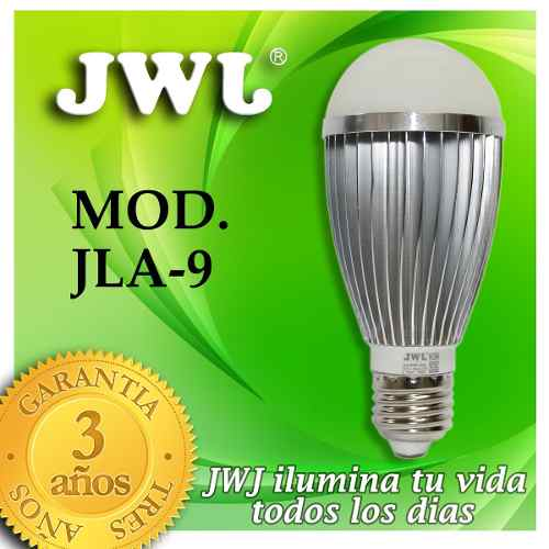 Jwj Foco De Led 9w Base Ek°luz Calida