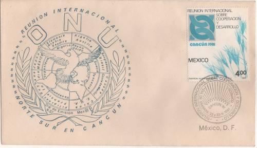 L209-méxico Sobre Primer Día Reunión Norte - Sur Cancun