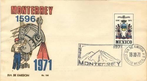 L212-méxico Sobre Primer Día Aniversario De Monterrey-