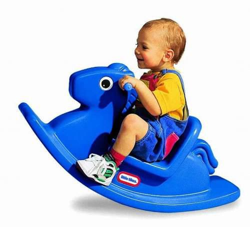Little Tikes Caballo Mecedor Color Azul Y Magenta