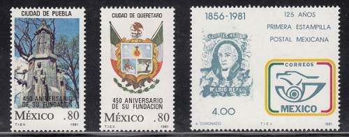 Mexico 1981 Timbres Con Marca De Agua Nuevos Cat. 9 Dls.