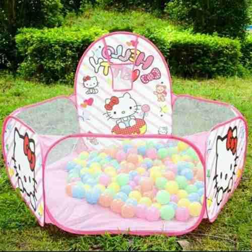 Pelotero De Tela Estimulación Hello Kitty Bebé 50 Pelotas