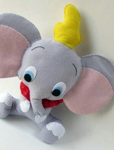 Peluche De Dumbo Bebé Suave Y Esponjoso Decoración