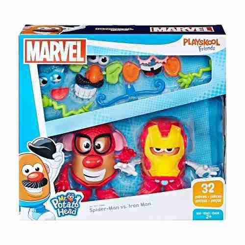 Playskool sr. cara de papa spiderman iron man 32 pz. +2 6e2f10470e2