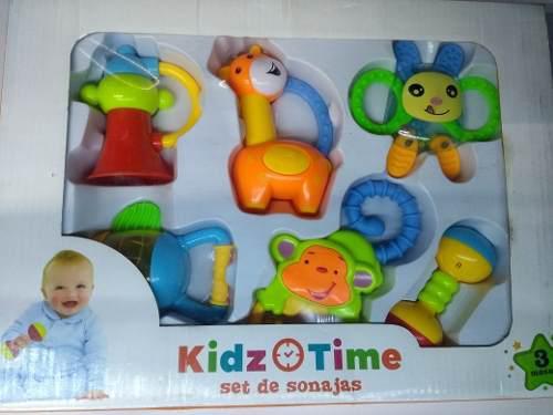 Sonajas Bebe Kidz Time Destreza Y Aprendizaje 6 Pzas