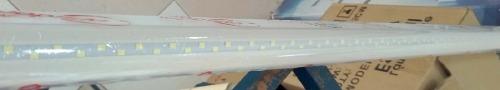 Tubo Doble Led 1.20 Mts T8 Canaleta Plastico 24w