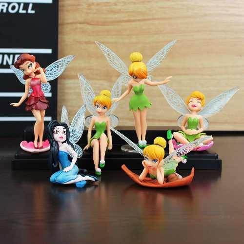 6 Figuras De Tinkerbell Campanita De Peter Pan