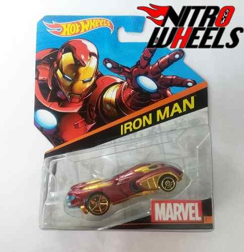 Hot Wheels Marvel Character Cars Iron Man Caja Bdm