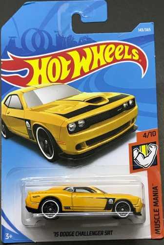 Hotwheels '15 Dodge Challenger Srt # Amarillo