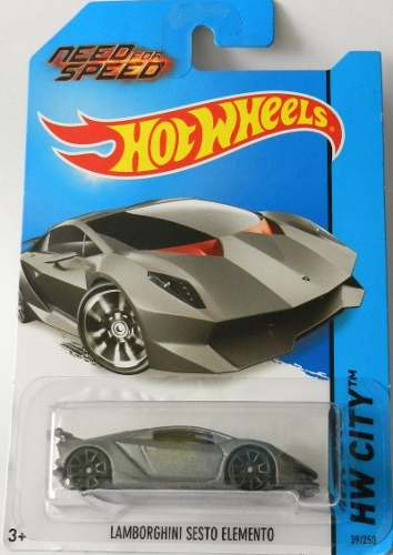 Hotwheels Lamborghini Sesto Elemento Nfs  Tarjeta