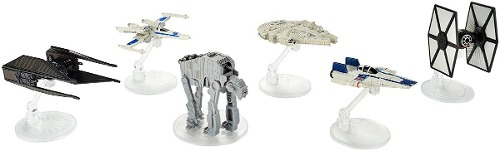 6 Naves Star Wars Hot Wheels Starships 6-pack