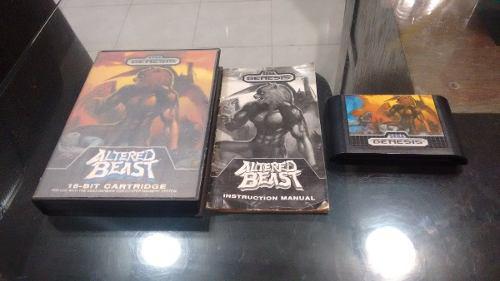 Altered Beast Para Sega Genesis Completo Caja E Instructivo