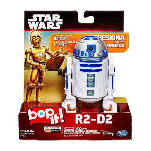 Bop It R2d2 Droide Electronico Con Voz C3po Star Wars Robot