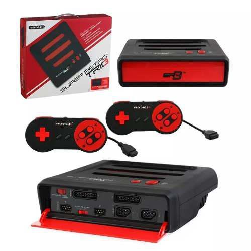 Consola 3 En 1 Supernintendo, Nintendo Y Genesis Retrobit