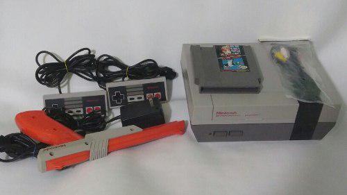 Consola Nes Nintendo 2 Controles Cables Originales Y Juego