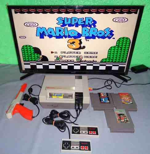 Consola Nintendo Nes Con Super Mario Bros 3 Envio Gratis Dhl