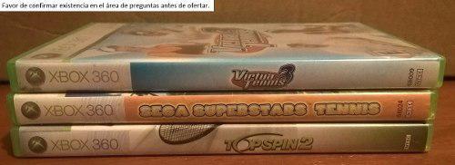 Juegos De Tenis Xbox 360 Top Spin 2 Virtua Tennis Sega...