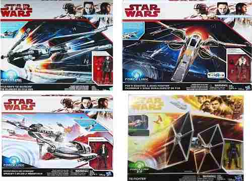 Lote 4 Naves Star Wars Tie Figther+tie Silencer+ski+x-wing