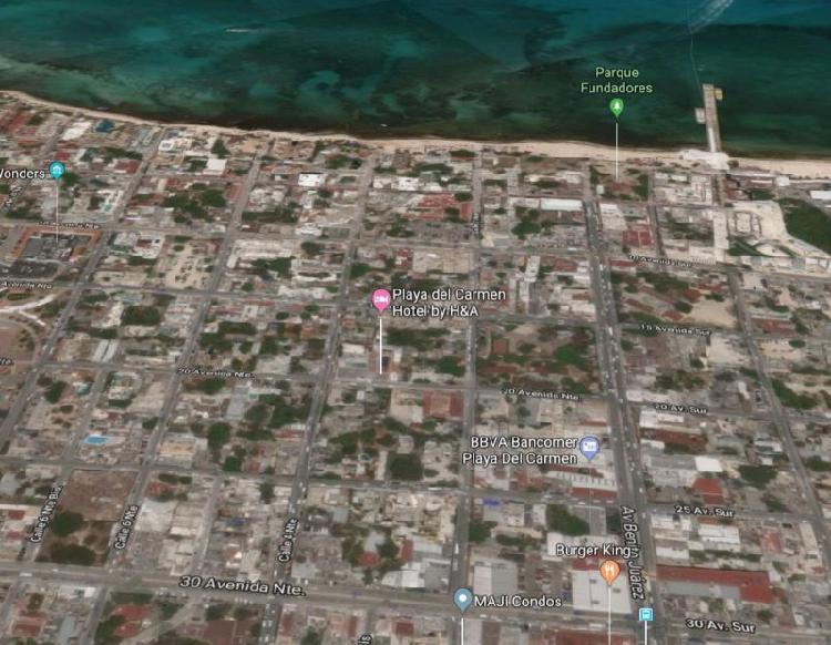 Terreno en el centro de Playa del Carmen bien ubicado