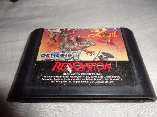 Video Juego Ys 3 Para La Consola Sega Genesis